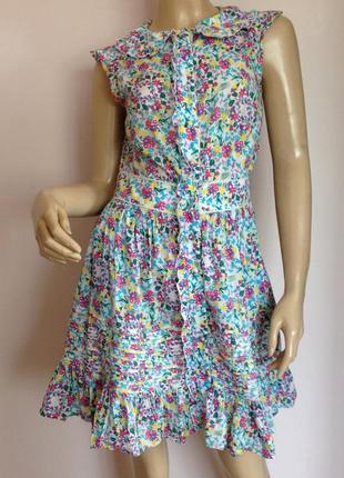 Хлопковое платье на пуговицах/s/ brend oasis