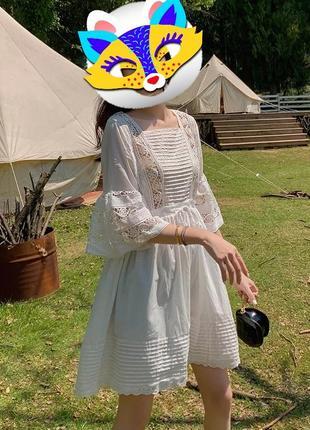 Милое воздушное платье тончайший нежный хлопок