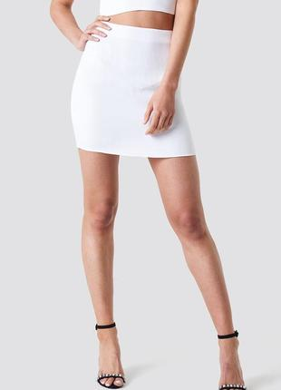 Сатиновая мини юбка na-kd, eu34