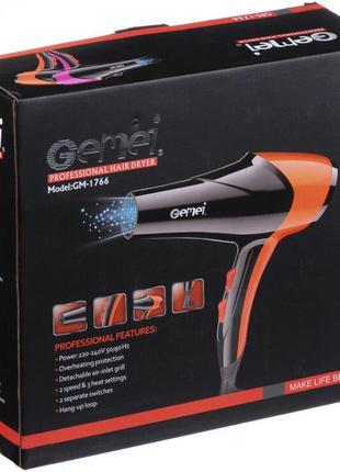 Фен gemei gm-1766 2.6квт ас