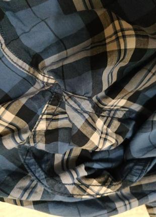 Батистовая рубашка в клетку  оверсайз м-xl7 фото