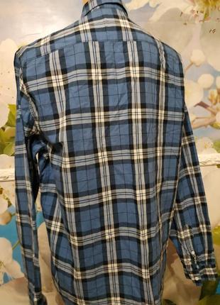 Батистовая рубашка в клетку  оверсайз м-xl5 фото