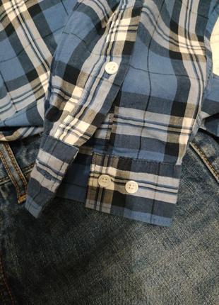 Батистовая рубашка в клетку  оверсайз м-xl3 фото