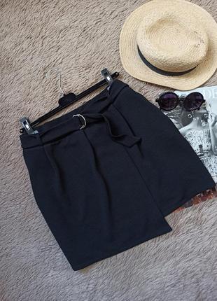 Шикарная юбка с поясом на запах/короткая юбка