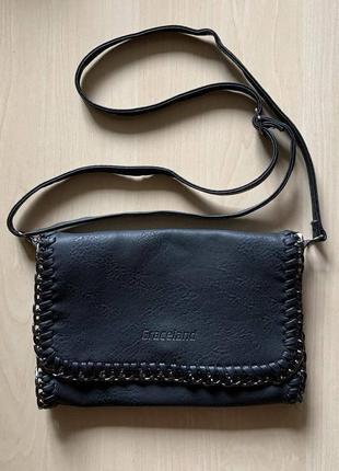 Качественный кожаный клатч, стильный, фирменный, оригинал, нат кожа