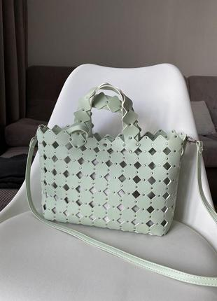 Мятная сумка zara