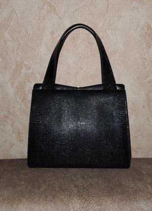 Винтажная кожаная сумка ридикюль ries винтаж ретро