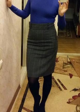 Отличная юбка с завышенной талией