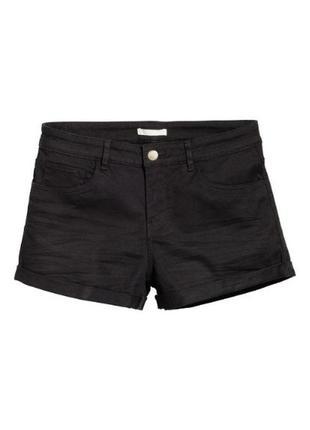 1+1=3 шорты h&m чёрные хлопок