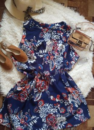 Туника платье в цветочний принт