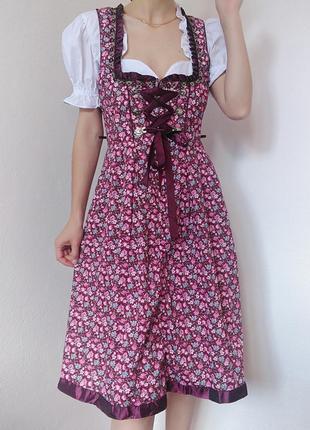 Платье баварський стиль топ сукня плаття в квіти zara mango bershka cos h&m