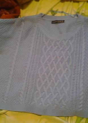 Теплый укороченный свитерок