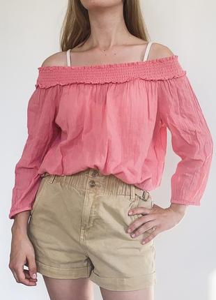 Блуза со спущенными рукавами