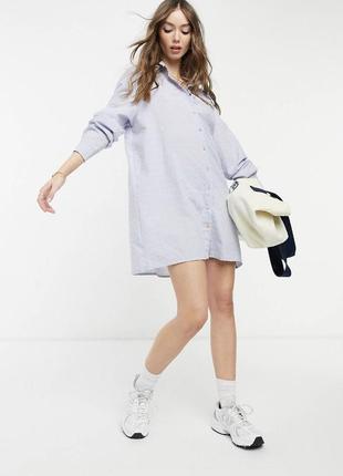 Рубашка оверсайз платье женское oversized zara