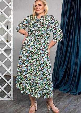 Платье летнее свободного силуэта