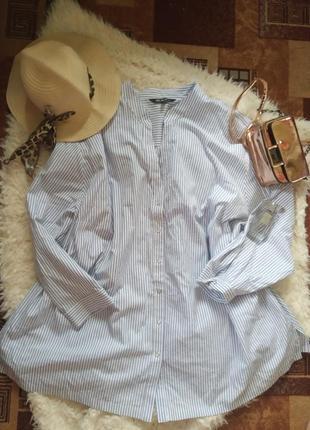 Рубашка в полоску батал