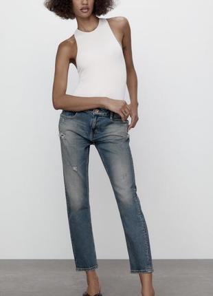 Новые джинсы zara средней посадки