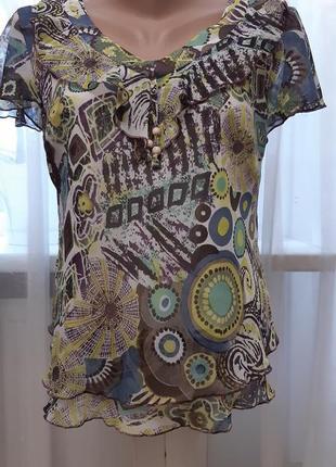Блузка красивая разноцветная