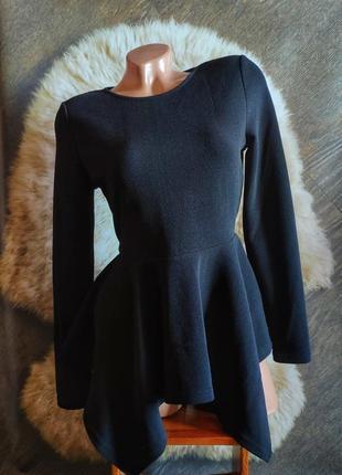 Блуза с асимметричной баской