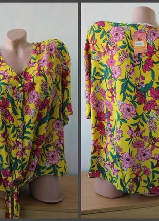 Блуза в цветах  tu, вискоза.