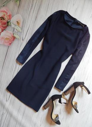 Стильное платье с лампасами и карманами zara