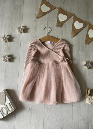 Вязаное платье zara 2-3 года