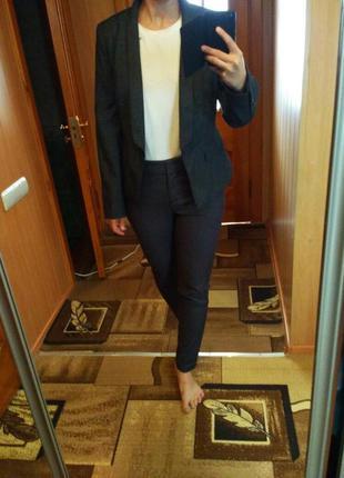 Серые классические брюки next