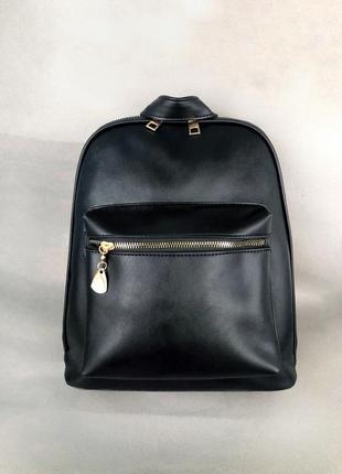 Рюкзак в чёрном цвете эко кожа