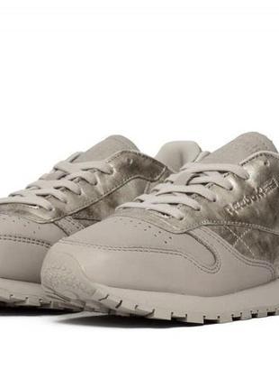 Женские кроссовки reebok classic leather il sandstone women sneakers