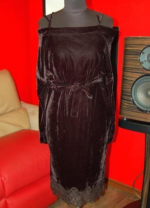 📢 1+1=3🎁красивое бархатное вечернее платье