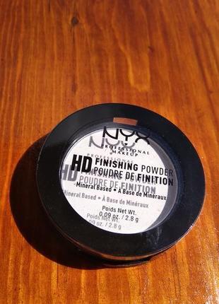 Миниральная финишная компактная пудра nyx hd, 2,8g