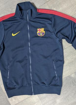 Мужская спортивная кофта олимпийка nike barca l barcelona