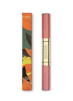 Сицилийские ноты жидкая губная помада color duo оттенок 02 kiko milano оригинал