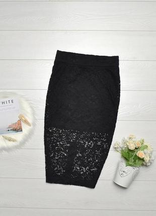 Красива ажурна юбка карандаш h&m.