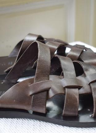 Кожаные итальянские шлепанцы шлепки тапки сланцы albero р.46 31 см