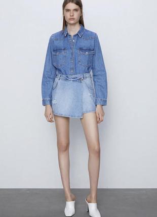 Джинсовые шорты юбка,шорты юбка zara
