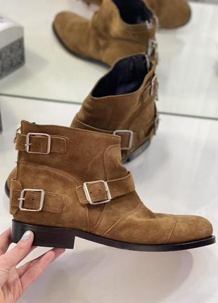 Ликвидация сезона!  замшевые ботинки ботильоны с пряжками balmain x h&m 1+1=3