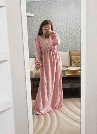 Шикарный сарафан эффектное длинное платье винтаж