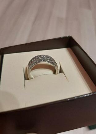 Серебряное кольцо каблучка с фианитами серебро