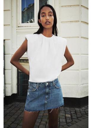 Шорты юбка zara s,джинсовые мини шорты юбка