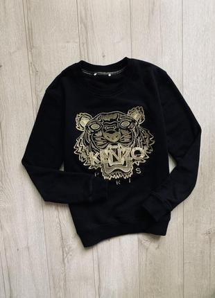 Чёрный свитшот кофта kenzo