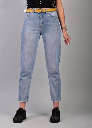 Стильные женские джинсы в комплекте с поясом, т046
