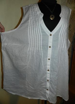Натуральная,тонкий хлопок,белая блузка-безрукавка,бохо,большого размера,indigo,индия