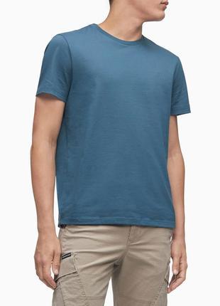 Новая футболка calvin klein (ck royal blue - маленькое лого) с америки l