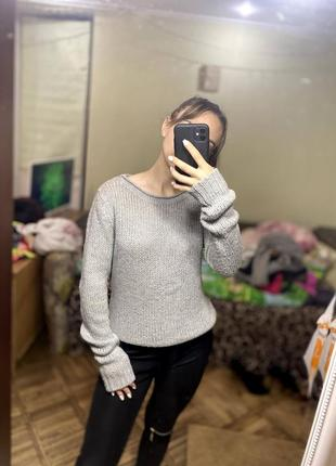 Крутой серый свитер new look