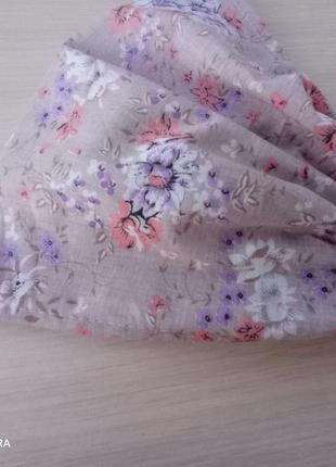 Косынка повязка бандана цветочный принт