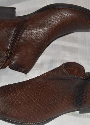 Ботильони туфлі черевики шкіра tamaris розмір 40 41, ботинки кожа