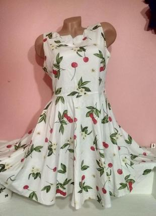 Коттоновое очень нежное платье isabel с вишенками