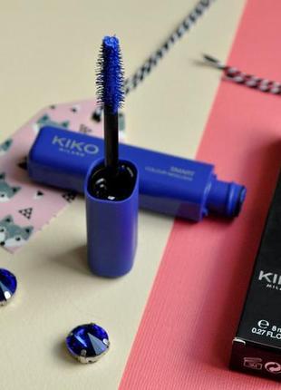 Тушь для ресниц цветная kiko smart colour mascara