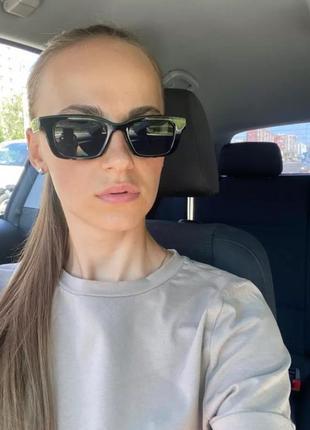 Очки окуляры солнечные солнцезащитные чёрные женские мужские